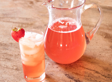 Strawberry Rhubarb Iced Tea