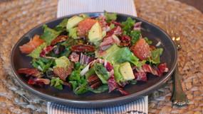 Grapefruit, Avocado, and Pecan Salad