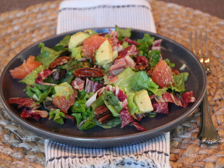 Grapefruit, Avocado, and Pecan Salad