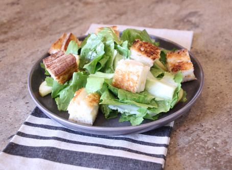 Escarole Salad with Grilled Cheese Croutons