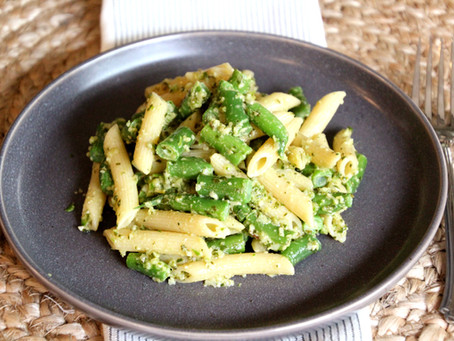 Pesto Pasta with Green Veggies