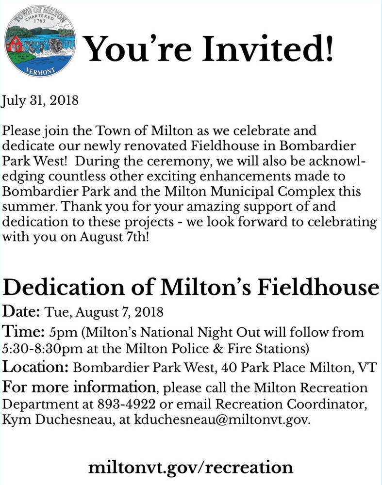 Milton is a Happening Place!