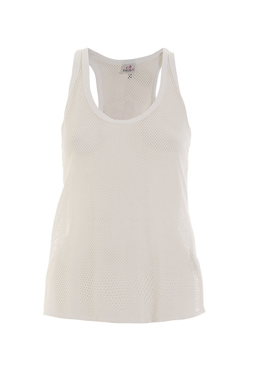 Deha Mesh Tank Top - White