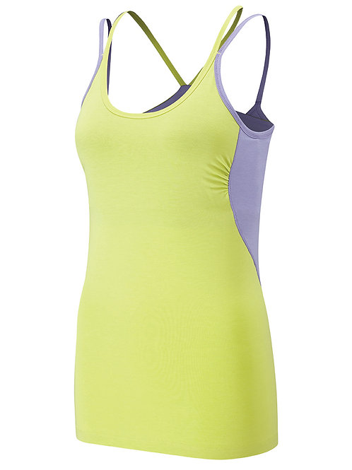 Wellicious - Insight Top - Celery/Cool Violet