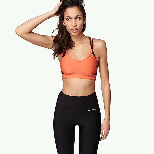 Active Strappy Bra Top  (fluoro beach)