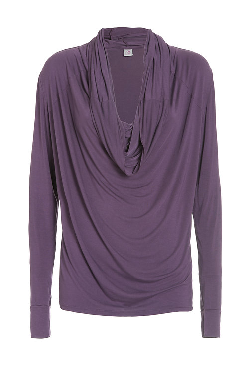 Deha Scoopneck Longarm Shirt - Purple