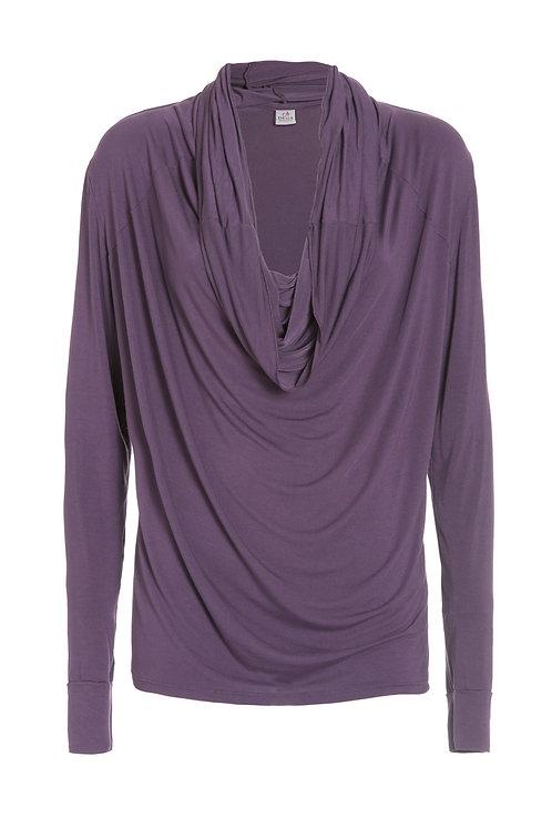 Deha Scoopneck Longarm Shirt - Purple