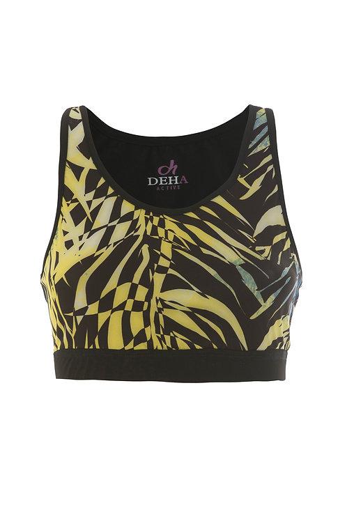 Deha Sport Bra -Yellow Black