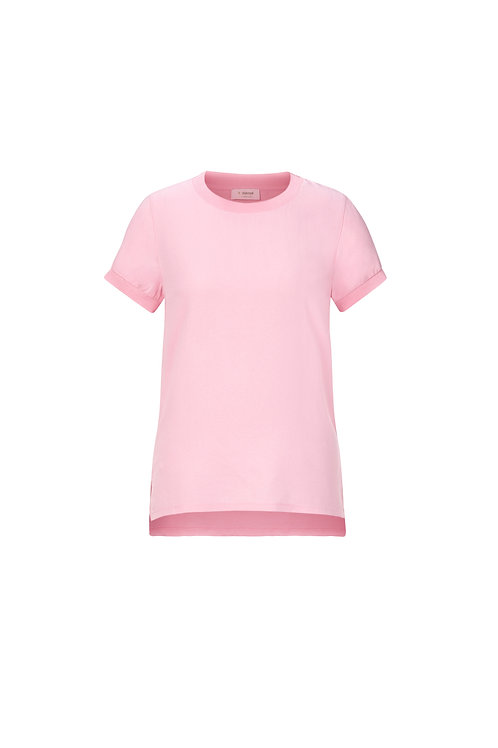 Rich & Royal -T-Shirt mit Front in Crêpe-Optik