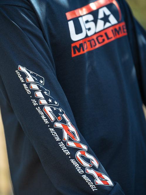 OfficialUSA Motoclimb Team'sLong Sleeve