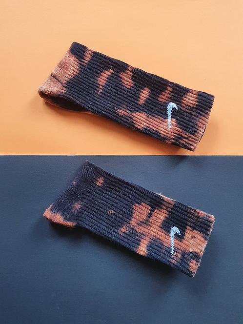 Black Bleached Tie Dye Nike Socks