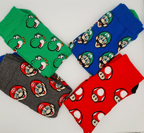 Adult Retro Mario Socks.