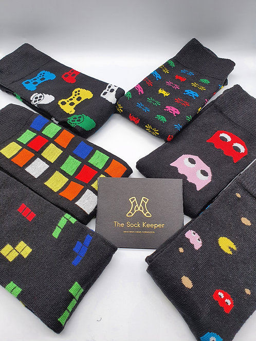 Adult Retro Game Socks.