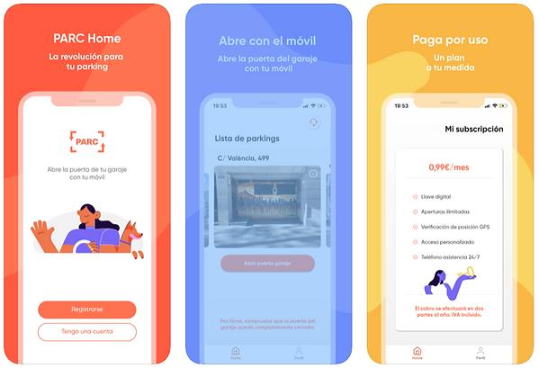 Imagen Ejemplo App PARC HOME