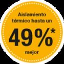 Sello 49% aislamiento térmico