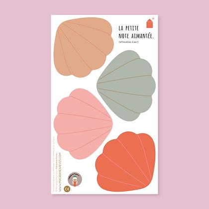 La Petite Note Aimantée _ Coquillages colorés