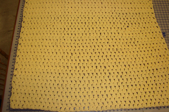 Puffy Yellow Baby Blanket