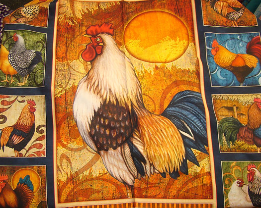QT Sunrise Farms Rooster Panel Navy