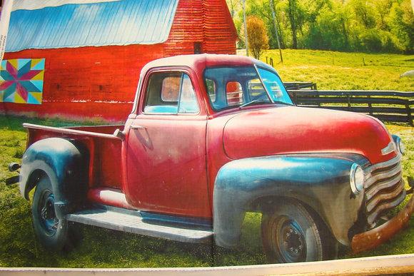 Red Truck Barn Panel
