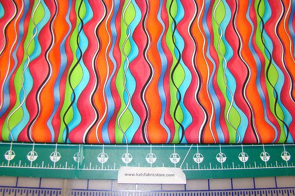 QT Jubilee Wavy Stripe Multi