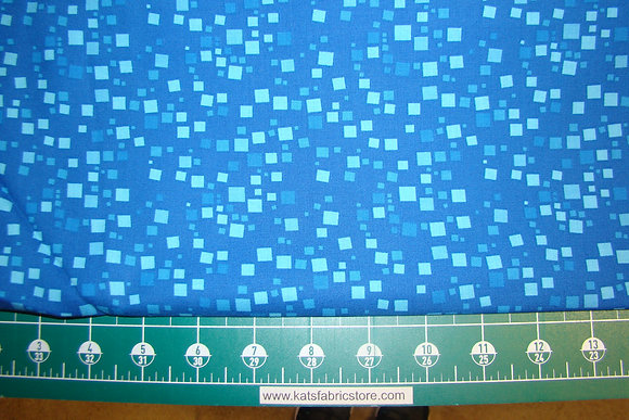 BX Small Geo Squares Blue