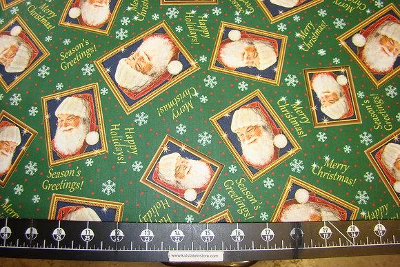 QT Santa's List Tossed Santa Frames Dark Forest