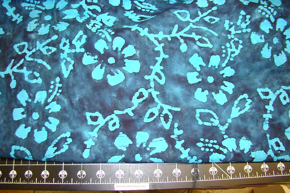 Quilter's Batik 358 Floral Navy
