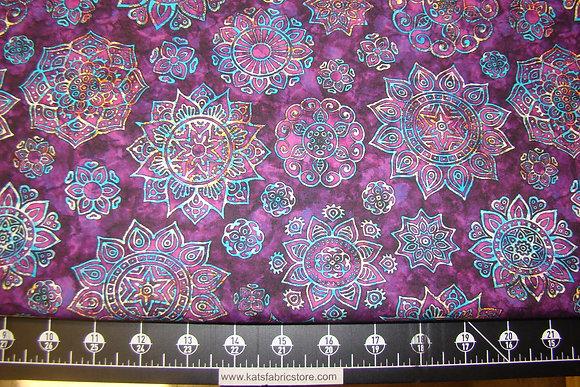 QT Kashmir Mandalas Violet