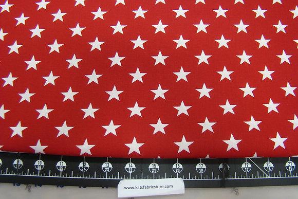 108in Patriotic Stars Red