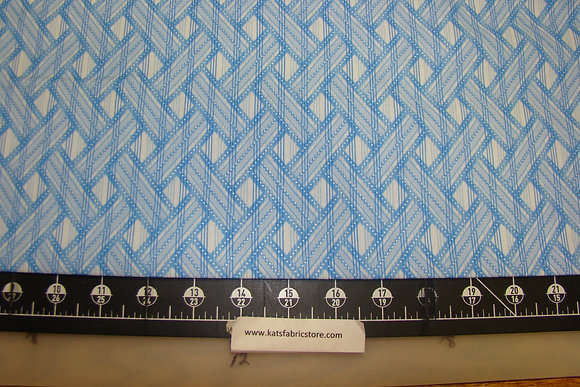 BX Shimmer Basket Weave Light Blue