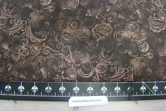108in Batik Floral Brown
