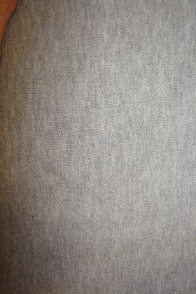 Knit Interlock Gray Poly Cotton