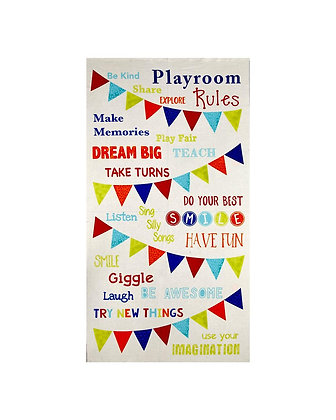 Timeless Treasures Playroom Rules Panel