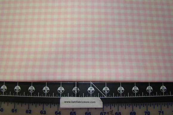 Duck Cloth Pink White Check