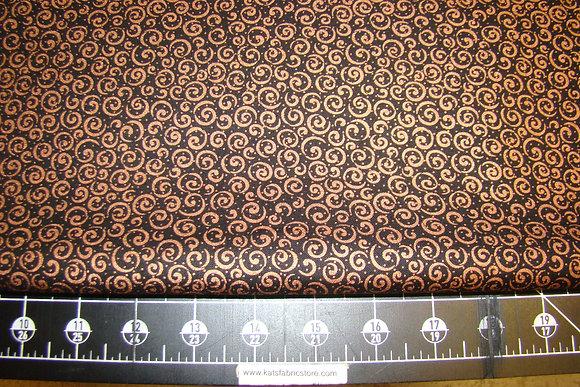 QT Metals Scrolls Black Copper