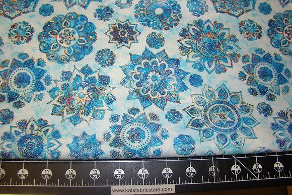 QT Kashmir Mandalas Blue