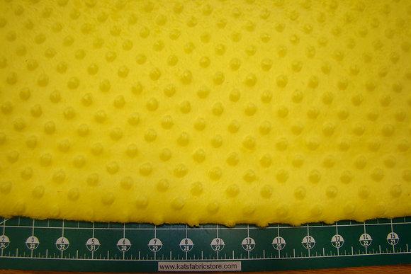 Snuggle Bumps Dots Minky Yellow