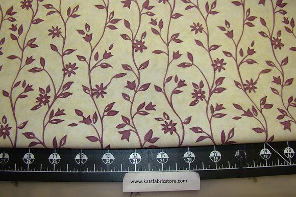 BX Meadowlark Floral Plum on Cream