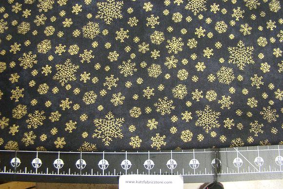 P&B Gold Snowflakes Black Metallic