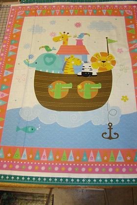 Baby Panel Noah's Ark Pink