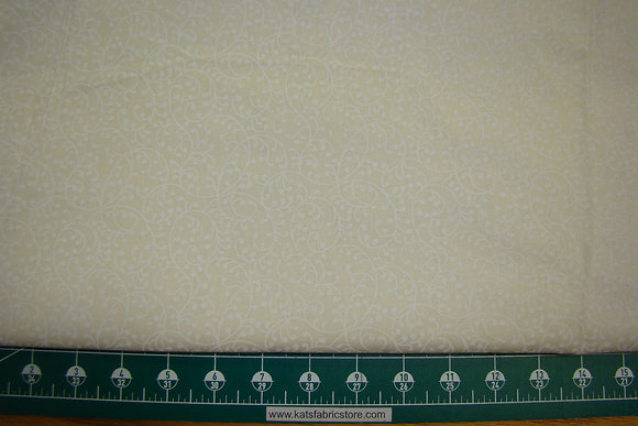 """108"""" Freeway White on Natural Quilt Backing"""