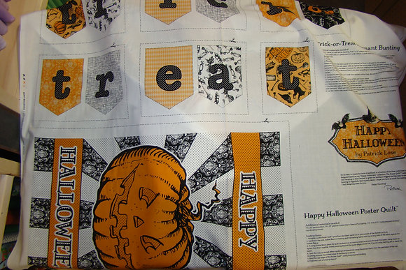 HLWN Patrick Lose Poster Quilt Bunting Panel
