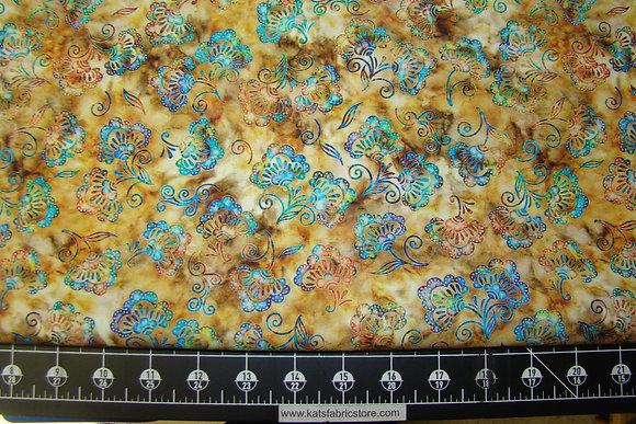 QT Kashmir Small Floral Tan