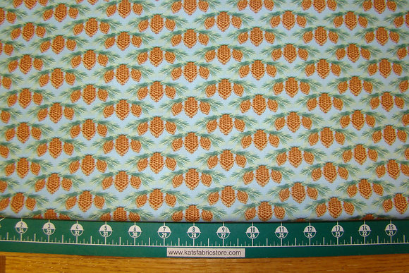 Deco State Maine Flower 19DSF1 White Pine Tassel and Cone