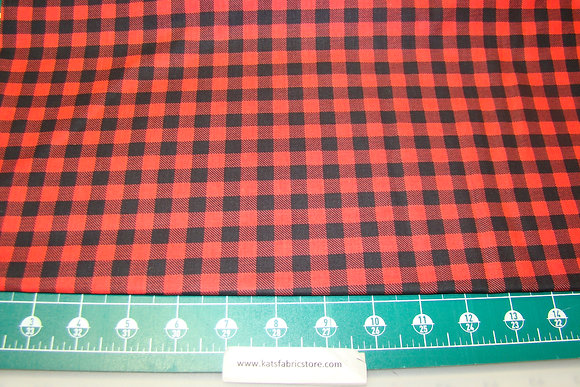 Camelot Small Buffalo Plaid Red