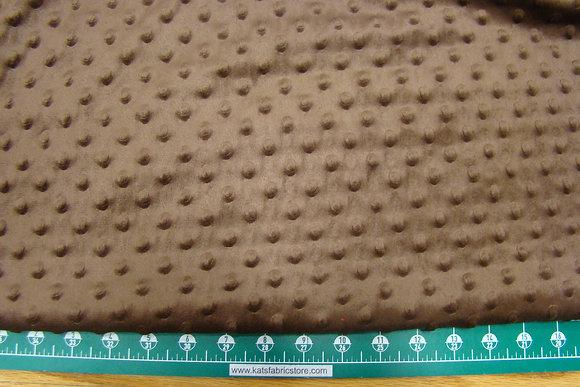 Snuggle Bumps Dots Minky Brown