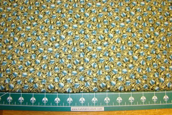 Deco Elegance Floral Blue 6JYE1M