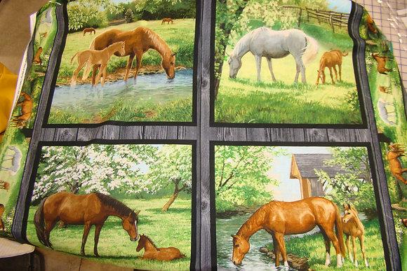 SC Real Animal Horse Pillow Panel