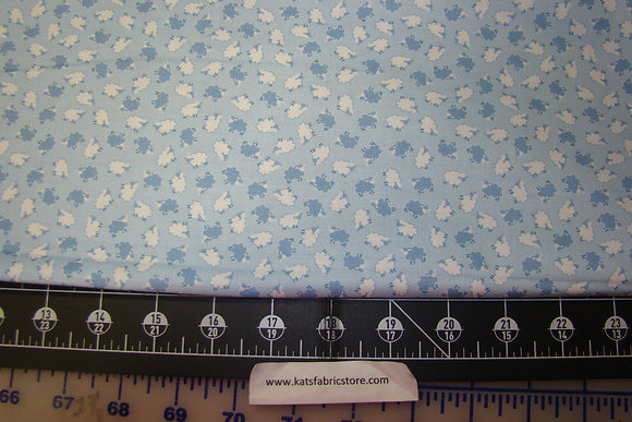 BX Sweet Dreams Tiny Tossed Sheep Blue