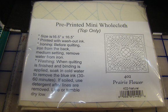 Natural Prairie Flower Pre-Printed Wholecloth
